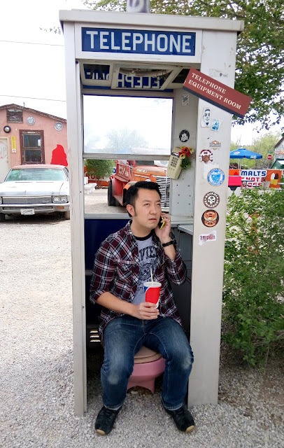 delgadillos snow cap drive-in outdoor phone booth