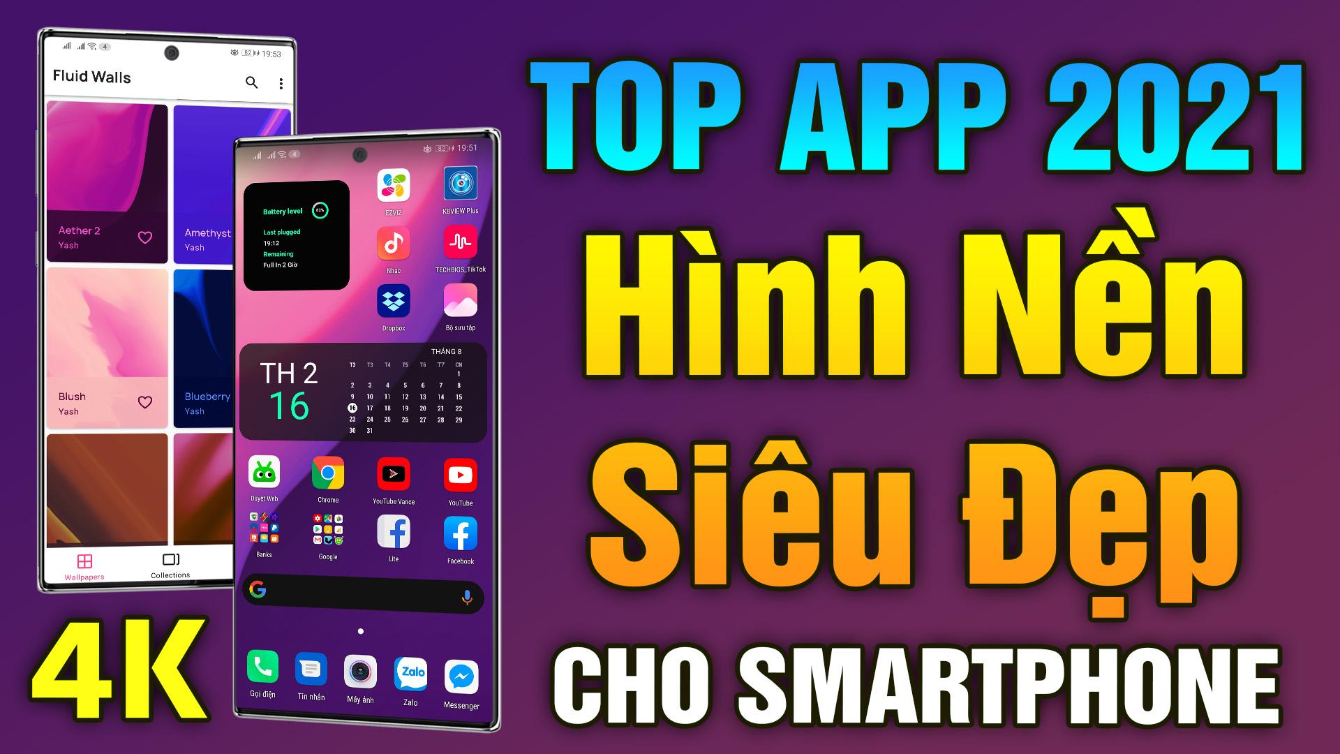 Top Ứng Dụng Hình Nền Android Siêu Đẹp - Best 4K Wallpaper Apps 2021
