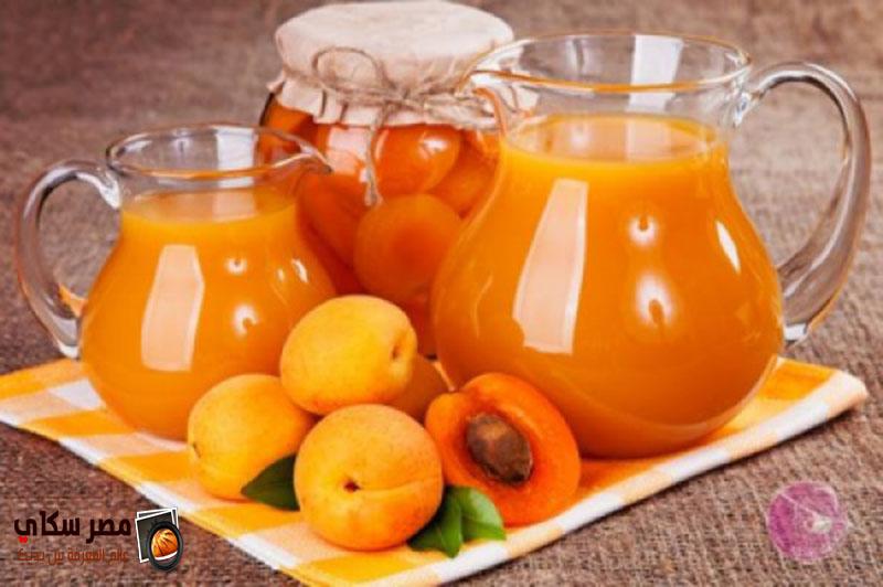 عصير المشمش وخطوات التحضير بالصور والفيديو Apricot juice