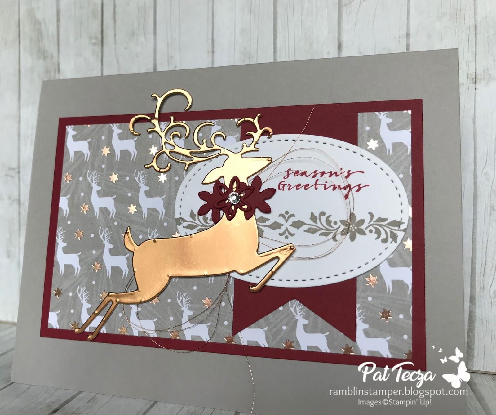Reindeer Christmas Cards Ideas.Ramblin Stamper Dashing Deer Christmas Card