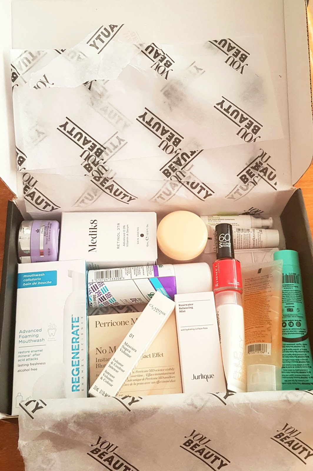The contents worth one hundred and 70 pounds from the You Beauty Summer 2020 beauty box reviewed by style and beauty blog Is This Mutton