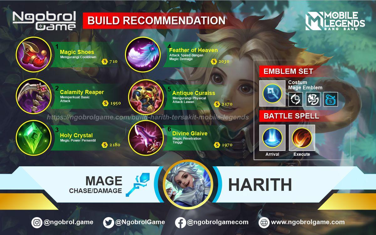 Build Harith Top Global Tersakit Mobile Legends