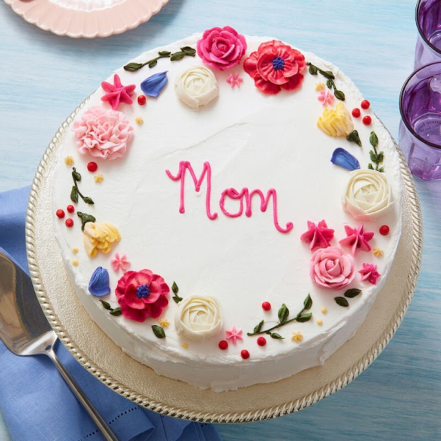 Homemade Mothers Day 2021 Cake for MOM