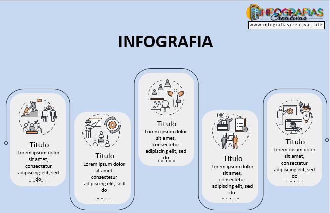 Infografia en PowerPoint modelo 6
