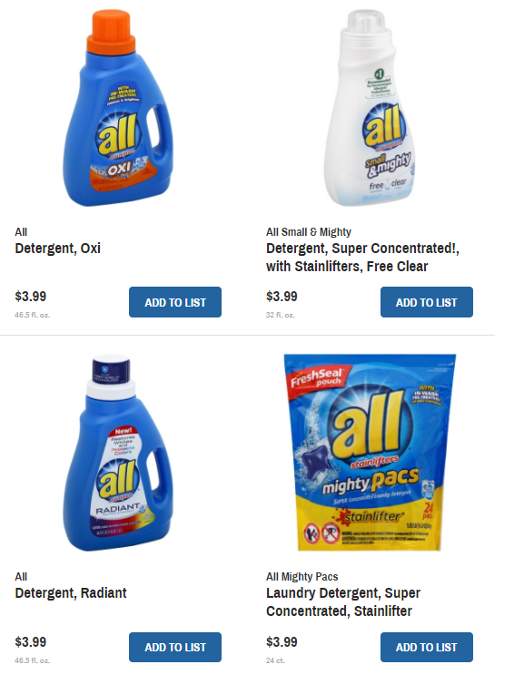 graphic about All Laundry Detergent Printable Coupons known as Wegmans: All Laundry Detergent Basically $2.99 with coupon Discounts