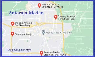 Daftar Anteraja Medan, Alamat dan nomor telepon anteraja medan