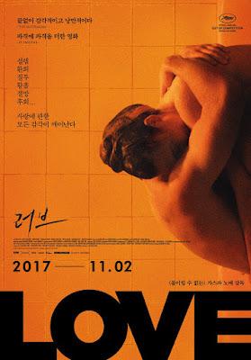 Love Gaspara Noe  film erotyczny plakat