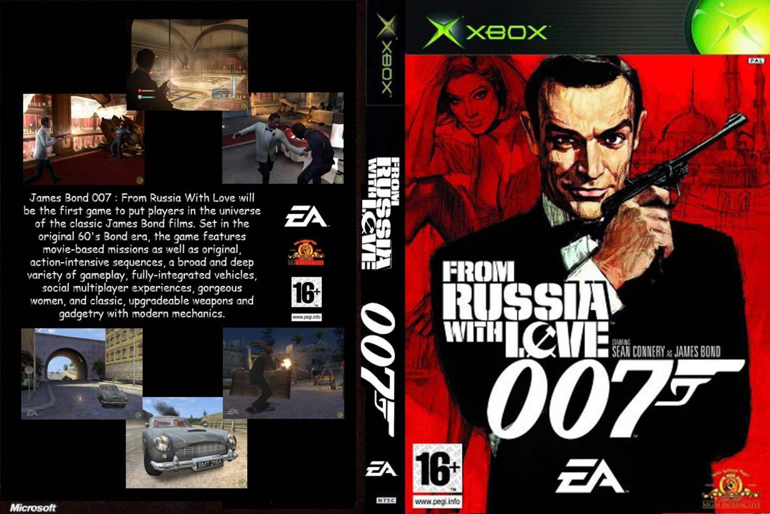 Capa 007 From Russia With Love Xbox