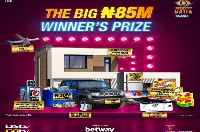 JUST IN: Big Brother Naija Season 5 winner to go home with whopping N85m prizes