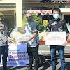 Kapolres  Takalar, Merima Bantuan  65 ap Paket Sembako Dari Bank Sampoerna