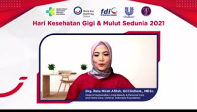drg. Ratu Mirah Afifah, GCClinDent.m MDSc (Head of Sustainable Living Beauty & Personal Care and Home Care Unilever Indonesia Foundation