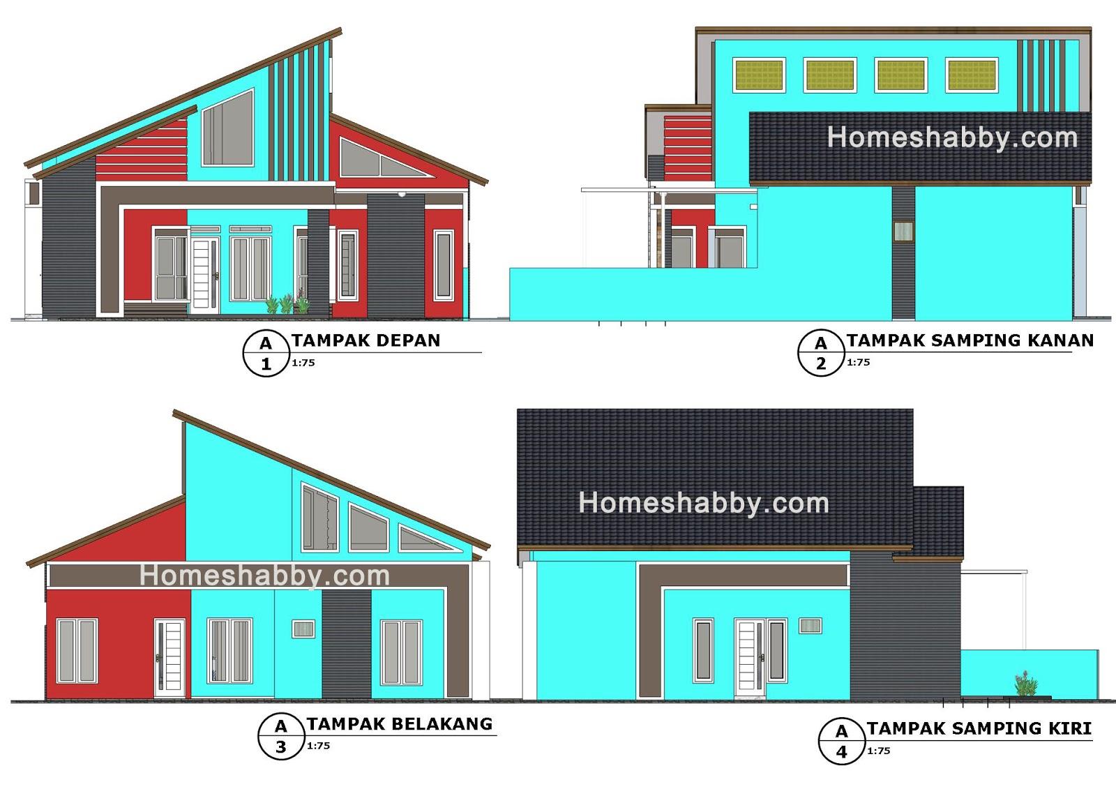 Desain Rumah Atap Miring Kiri Kanan Cek Bahan Bangunan