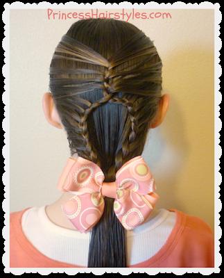 Teardrop mermaid braid hair tutorial