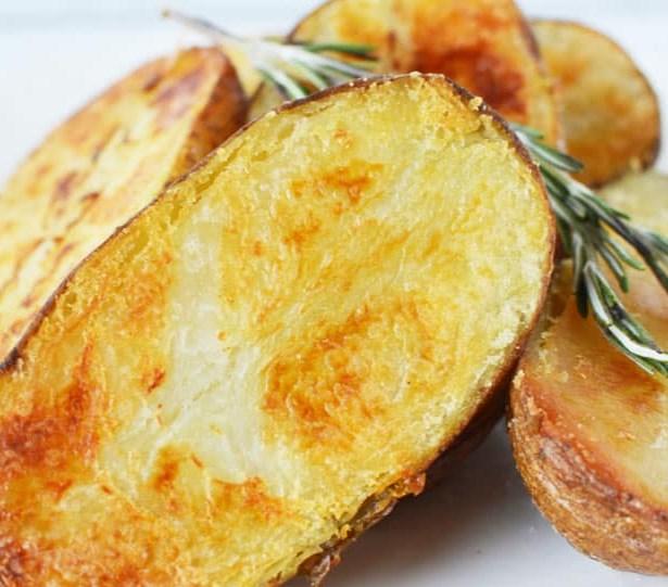 Oven Roasted Large Melting Potatoes #vegetarian #food