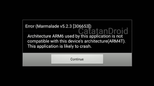Cara Fix Error Marmalade v5.2.3 ARM4T di Game PES 2012 Nougat