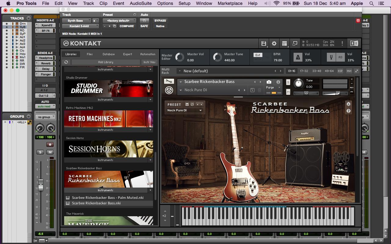Scarbee Rickenbacker Bass 5 by Native Instruments para Kontakt Download