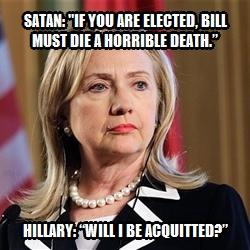 Hillary's conversation with Satan