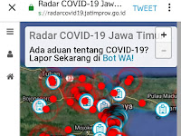 Ketahui Zona Merah Secara Realtime, Akses Radar Online Covid19 JatimProv
