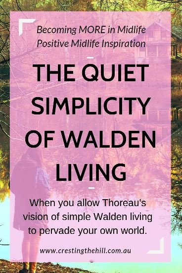 Henry David Thoreau wrote about living quietly, mindfully and simply in his novel Walden. These are all aspects of life we can aspire to live in today's busy world if we choose to live a slow, simple life. #simpleliving