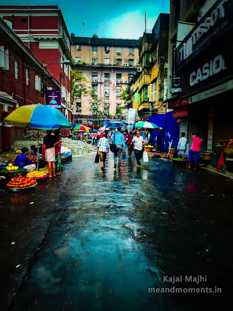 streets of kolkata, streets of kolkata during rain, lalbazaar street