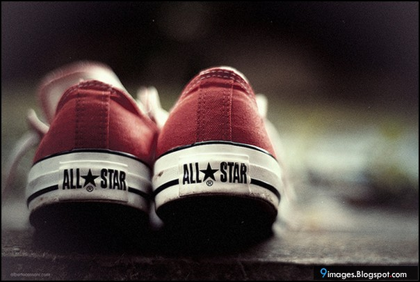 Shoes, red, all-star, photography, art