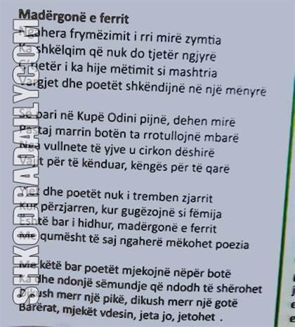 Madergone e ferrit, Azem Shkreli