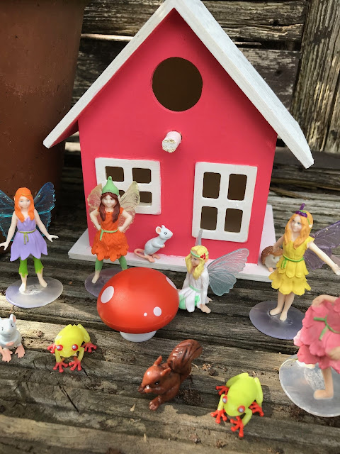 Fairy house, animals, fairies and animals