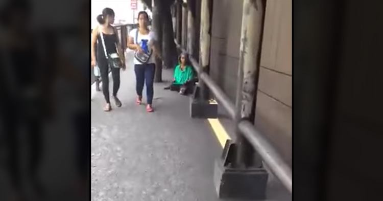 The man started to record the situation.