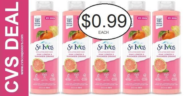 Cheap St. Ives Body Wash at CVS