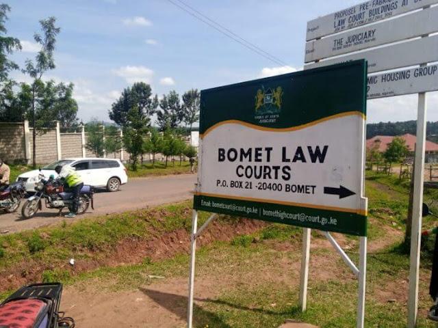 Bomet law courts drama photo