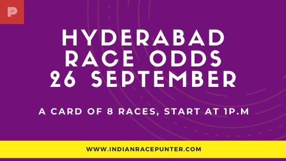 Hyderabad Race Odds 26 September