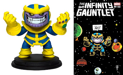 Thanos Infinity Gauntlet Animated Marvel Mini Statue by Skottie Young x Gentle Giant x Diamond Select Toys
