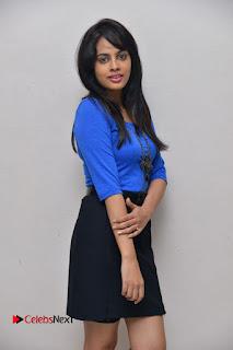 Actress Nandita Swetha Stills in Black Mini Skirt at Ekkadiki Potavu Chinnavada Movie Special Show  0017.JPG