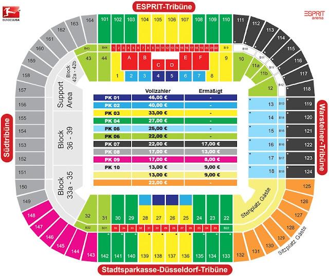 MERKUR SPIELARENA Düsseldorf STADIONGUIDE, Allianz arena Sitzplan Block Reihe, allianz arena münchen sitzplan, Allianz arena parken, sitzplan allianz arena münchen,allianz arena sitzplan reihen