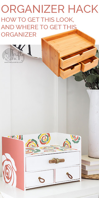 Organizer hack. Organization and decluttering ideas. Bathroom organization ideas. Desk organizer. DIY desk organizer makeover.