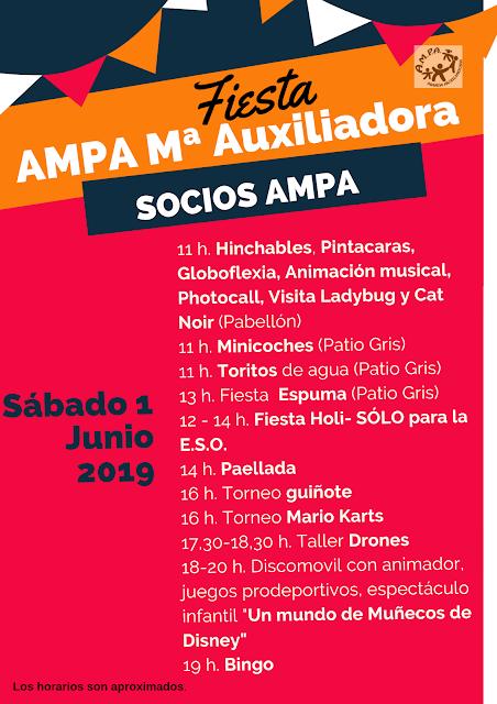 Programa de fiestas Colegio María Auxiliadora. Zaragoza