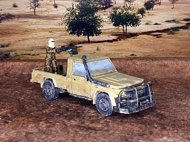 28mm Footsore terrorist insurgent technical with Empress miniature