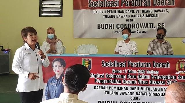 Anggota DPRD Lampung Budhi Condrowati Sosper AKB di Tubaba
