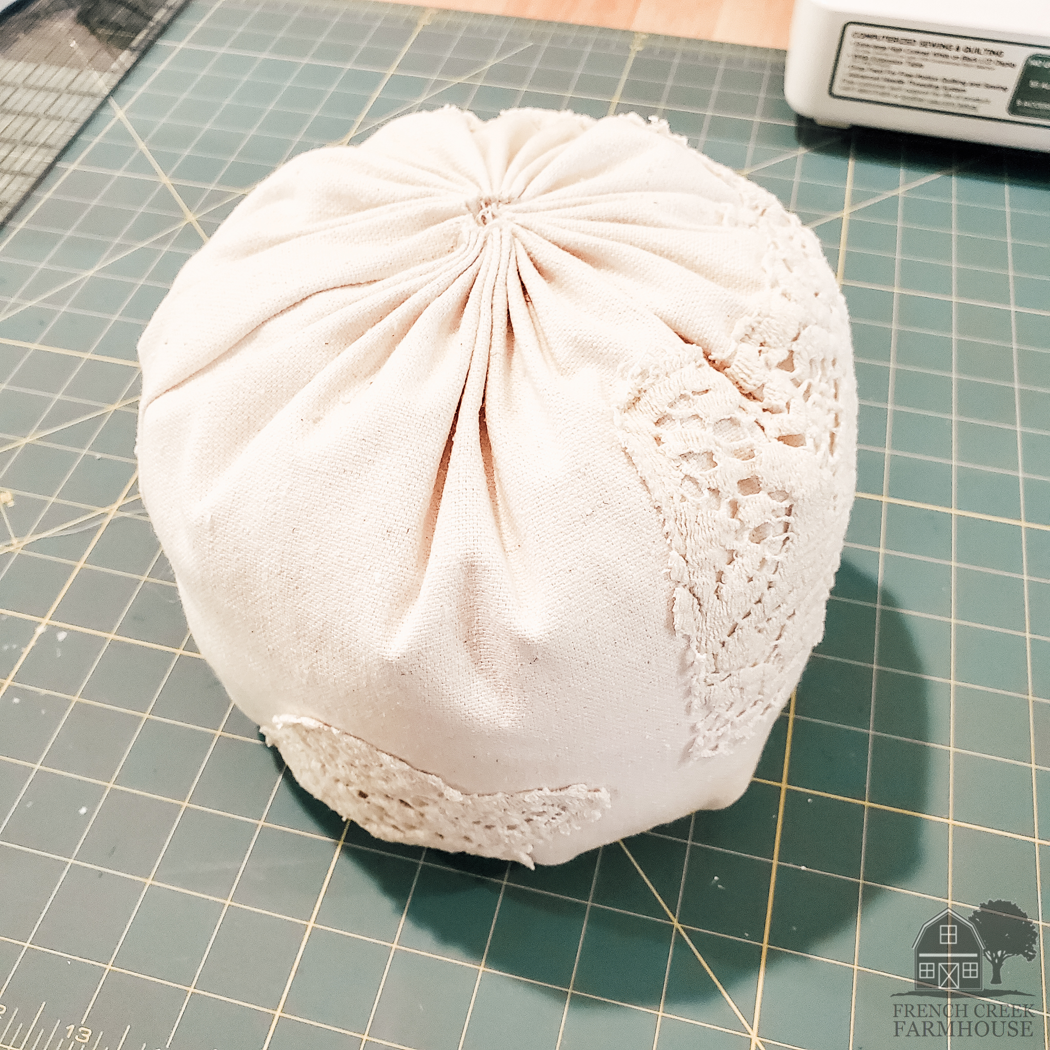 Start the process with a fabric ball