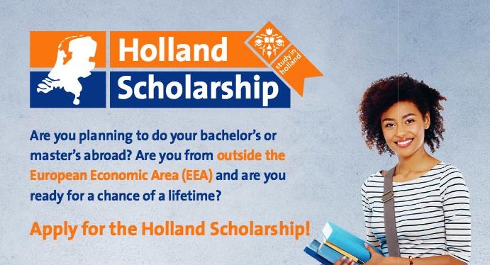 Beasiswa di Belanda Program S1 – S2 oleh Holland Scholarship