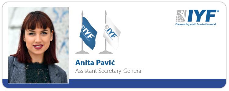 Anita Pavić, IYF Assistant Secretary-General