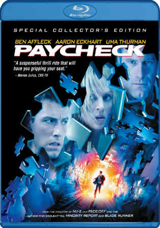 Paycheck 2003 BluRay 400MB Hindi Dual Audio ORG 480p