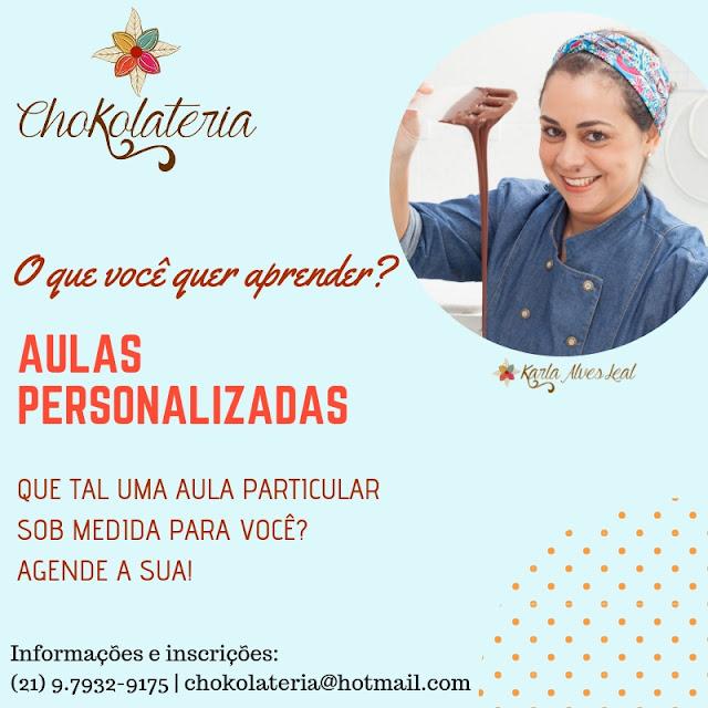Agende sua aula particular de confeitaria criativa - Chokolateria Karla Alves Leal