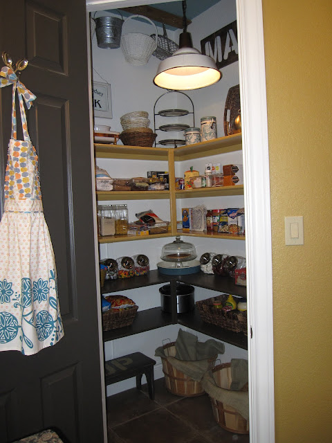 Anthropolgie inspired pantry makeover