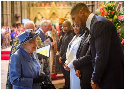 Anthony Joshua Met The Queen, And Told Her About Egusi Soup
