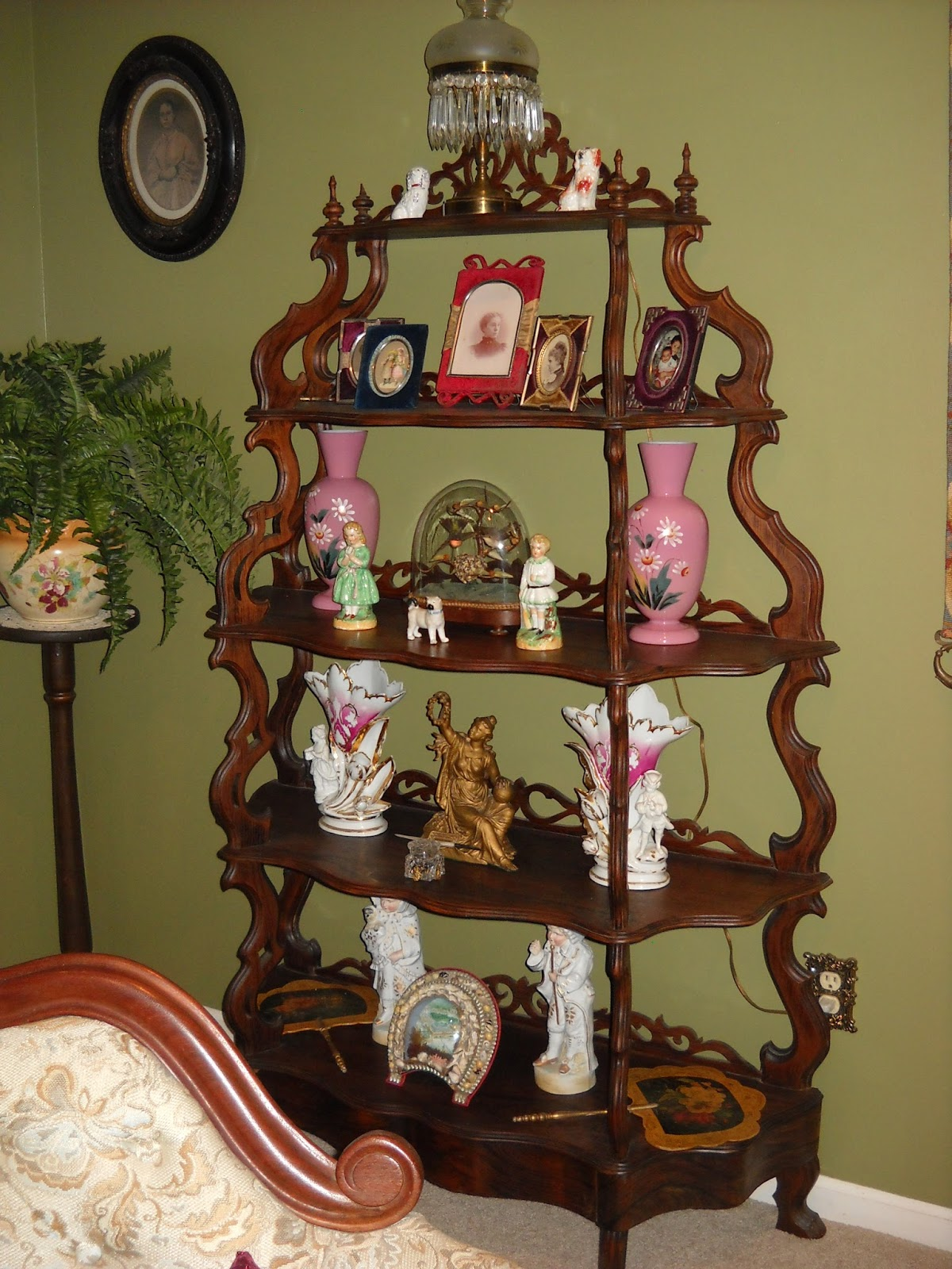 ... What Not Shelf, Sometimes Called An Etegere. Although Etegeres Usually  Are Much More Grander And Fancier With A Mirror And Marble Shelf On The  Bottom.