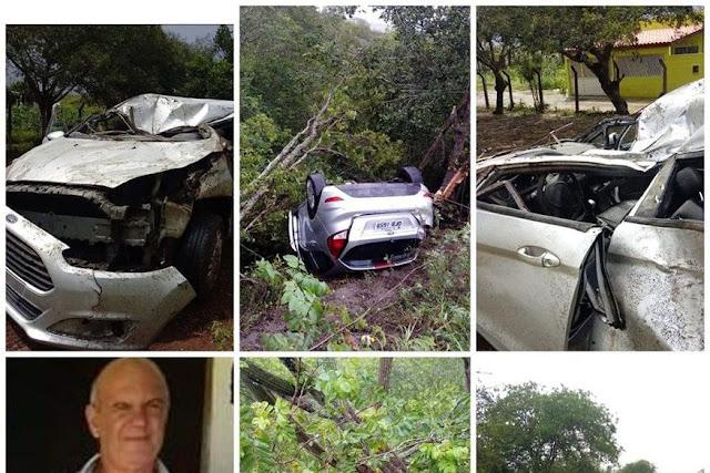 TRAGÉDIA: morre pai do secretário de agricultura de Queimadas, em acidente de carro