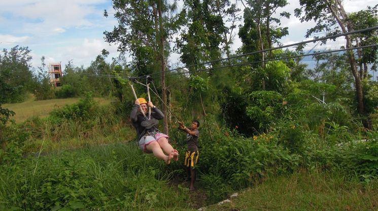 Zipline in Misibis Bay