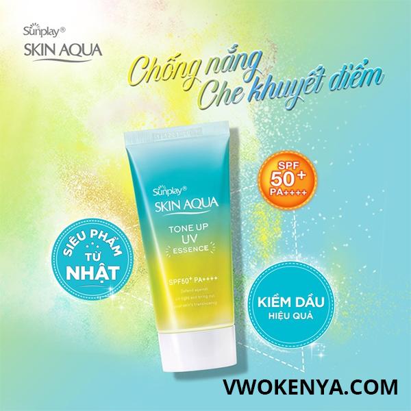 Kem chống nắng Sunplay Skin Aqua Tone Up Essence Mint (Green)