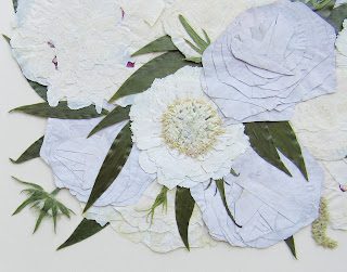 Close up pic of pressed flower art